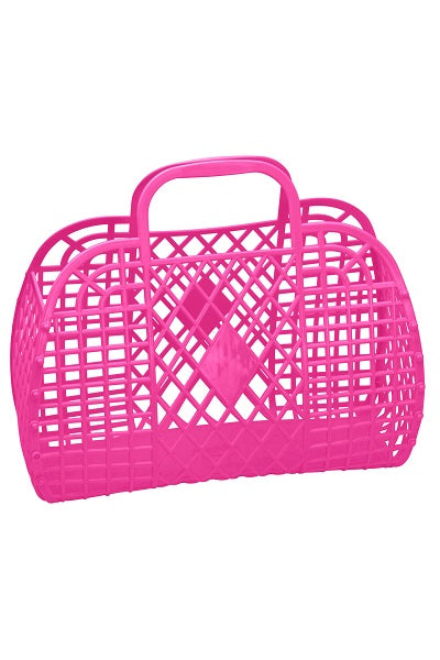 Sun Jellies Basket Hot Pink