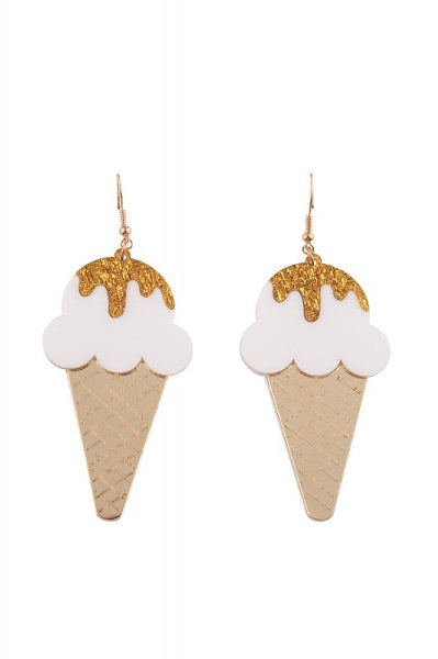 Collectif Drop Earrings Sonny Ice Cream