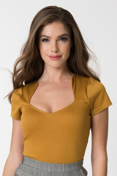Steady Clothing Sophia Top Mustard