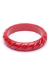 Splendette CLASSIC Bangle Midi - Fakelite Heavy Carve Red