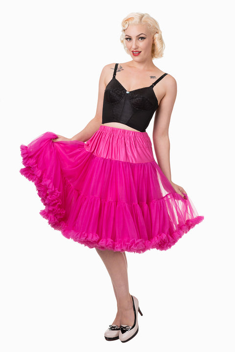 Banned Apparel Starlite Hot Pink Petticoat