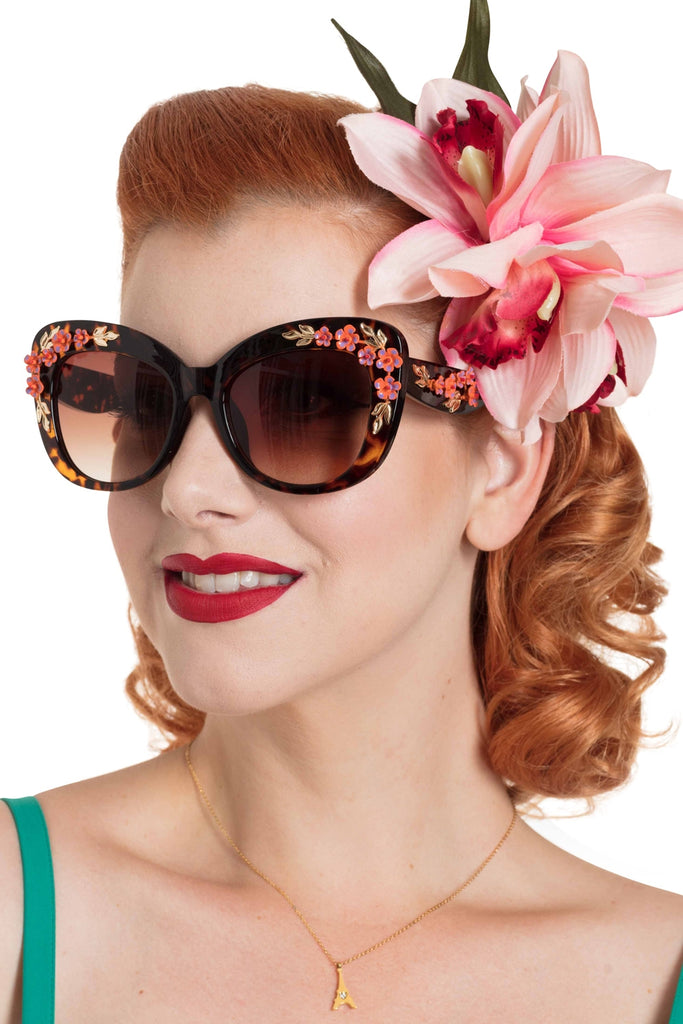 Voodoo Vixen Sunglasses Floral Fashion - Leopard