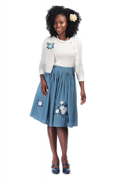 Collectif Talis Western Rose Skirt