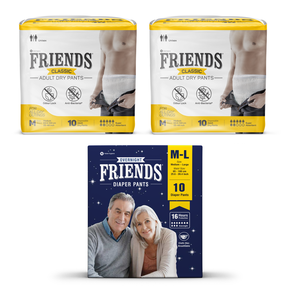 Friends Classic Pants + Overnight Pants Combo Pack - friendsdiaper