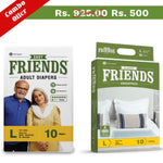 Buy Friends Easy Adult Diapers + Classic Underpads Combo Pack - friendsdiaper
