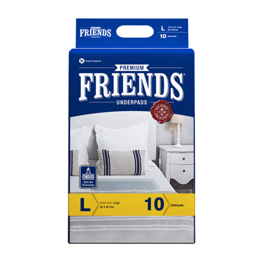 Buy Friends Premium Diaper Pants + Premium Underpads Combo Pack - friendsdiaper
