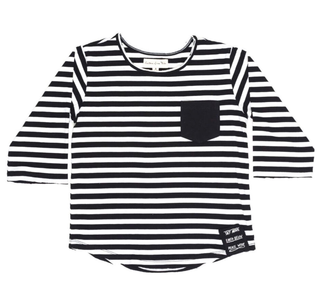 Sky above stripe raglan
