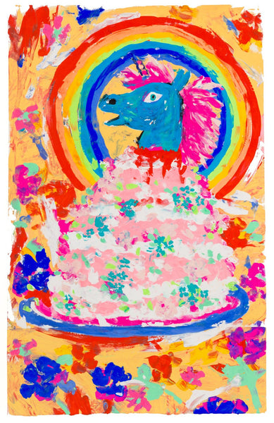 Lowbrow Pop Screen Print Painting by Fabi Santiago - from the Cake Collection