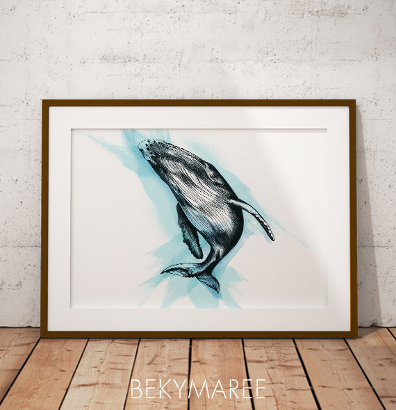 HARPER The Humpback Whale ~ Digital Artwork - Bekymaree