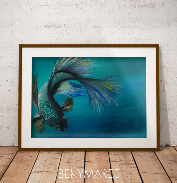 Fighting Fish Print - Bekymaree