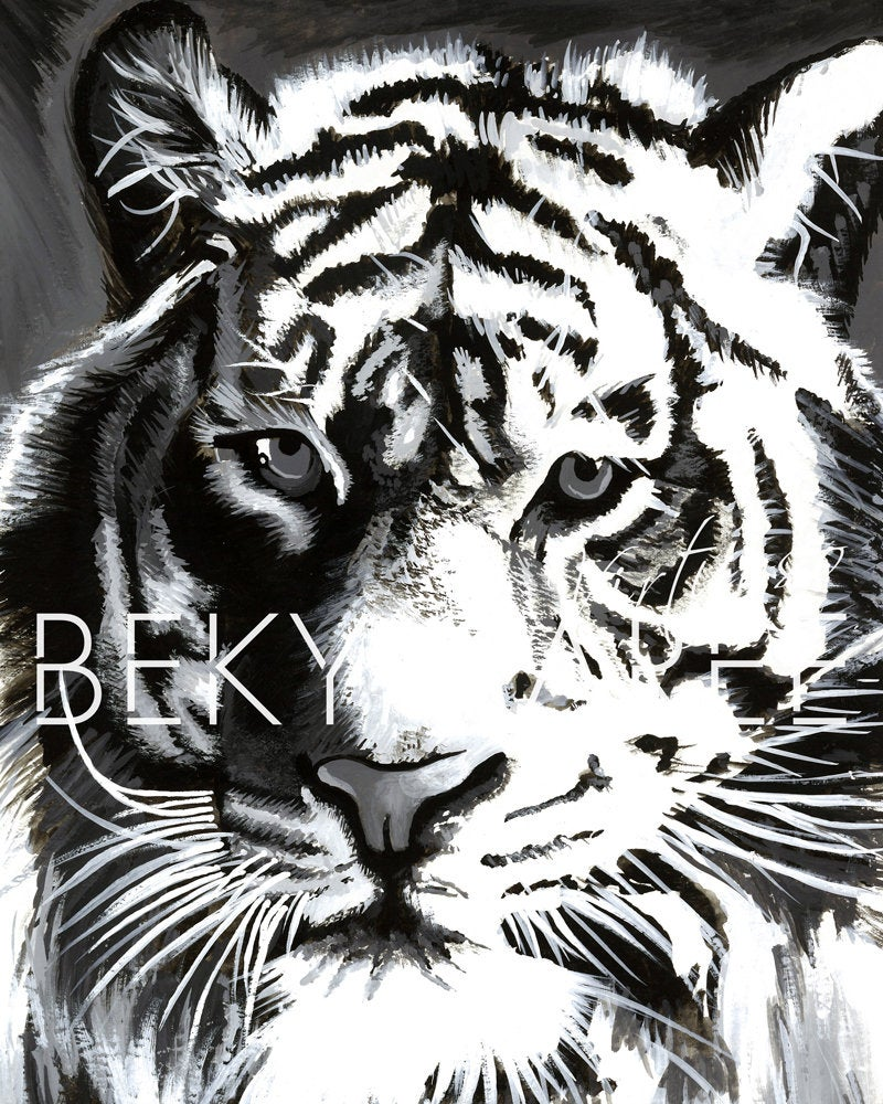 Original Tiger Painting - Bekymaree