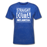 Straight Outta Melanesia Unisex Tee - mineral royal