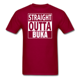 MFD Straight Outta Buka Tee - dark red