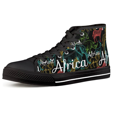 Animal Park Black High Top Canvas Shoes