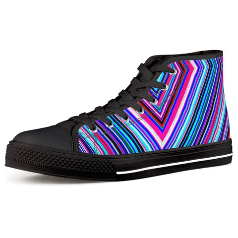 Illusions - Black High Top Canvas Shoes