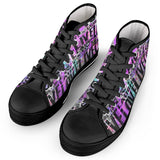 Live Laugh Love Black High Top Canvas Shoes