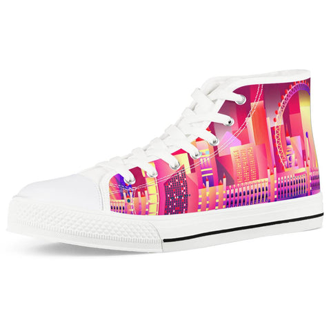 London eye White High Top Canvas Shoes