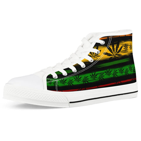 Rasta - White High Top Canvas Shoes