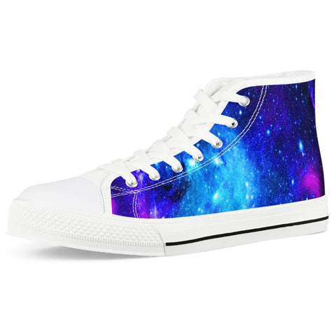Icy Way - White High Top Canvas Shoes