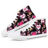 Cupid White High Top Canvas Shoes