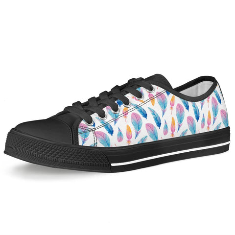 Fly Away - Black Low Top Canvas Shoes
