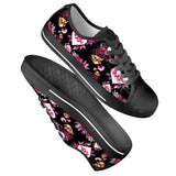 Cupid Black Low Top Canvas Shoes