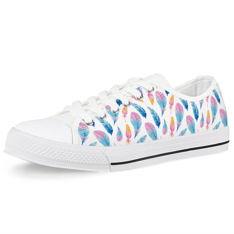 Fly Away - White Low Top Canvas Shoes