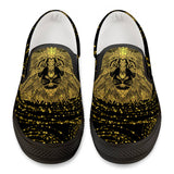 Golden Lion - Black Slip On Shoes