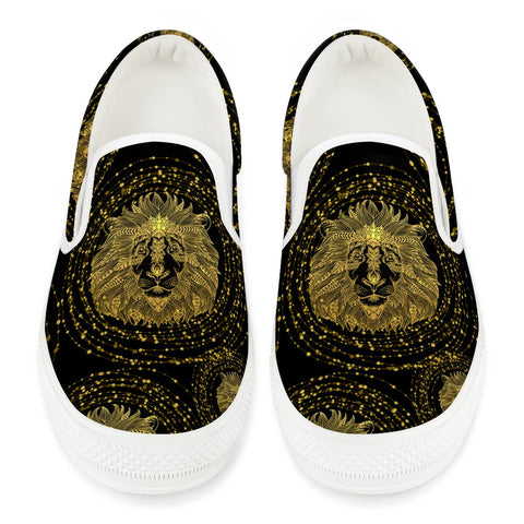 lion White Slip On Shoes