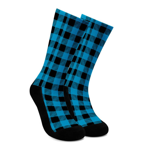 Blue Plaid - Crew Socks