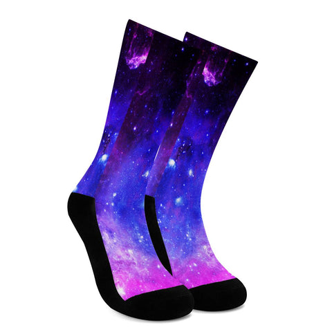 Pink Galaxy - Crew Socks