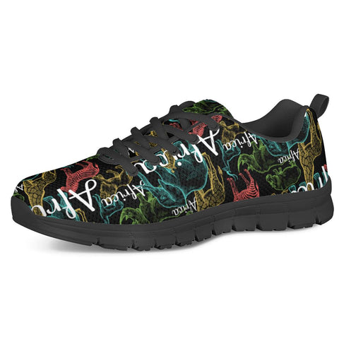 African Safari - Black Running Shoes