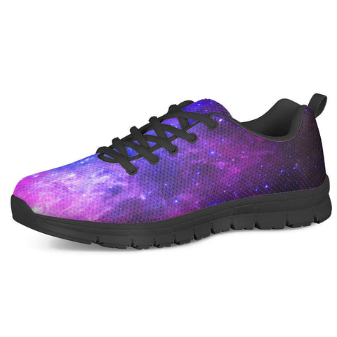 Pink Galaxy - Black Running Shoes