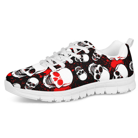 skull White Running Shoes