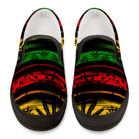 Rasta - Black Slip On Shoes