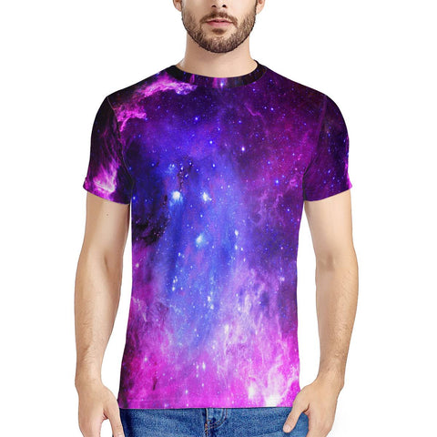 Pink Galaxy - New Men's All Over Print T-shirt