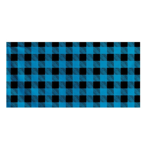 Blue Plaid - Bath Towel