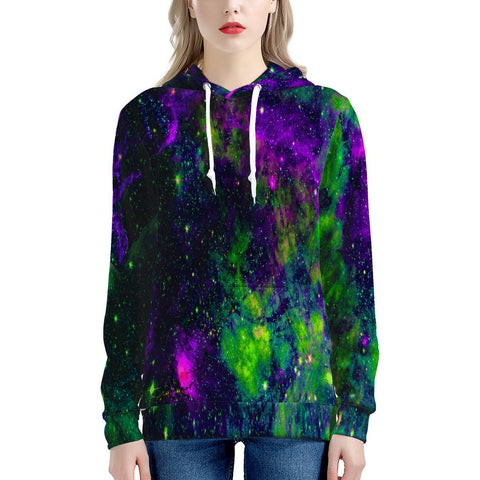 Green Galaxy - Women's All Over Print Hoodie