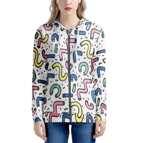 Gettin' Jiggy - Women's All Over Print Zip Hoodie
