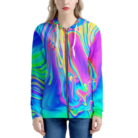 Drip - Women's All Over Print Zip Hoodie