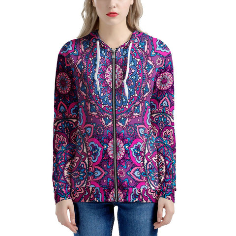 Garden Goddess - Women's All Over Print Zip Hoodie