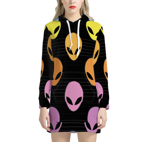 Alien Invasion - Women's Hoodie Dress