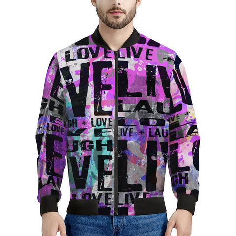 Live Laugh Love Men's Bomber Jacket