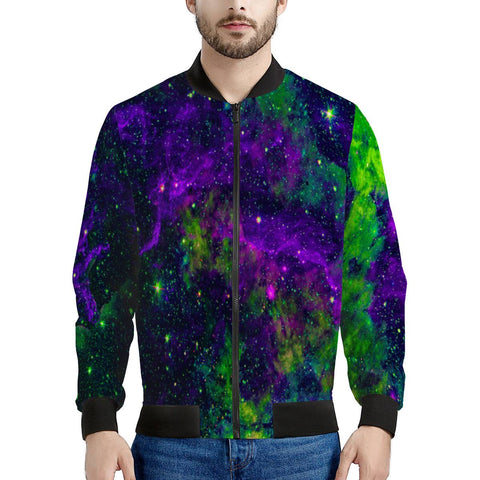 Green Galaxy - Men's Bomber Jacket