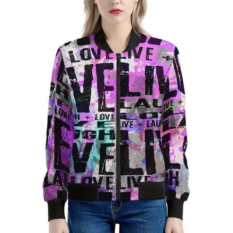 Live Laugh Love Women's Bomber Jacket