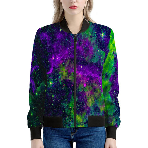 Green Galaxy - Women's Bomber Jacket
