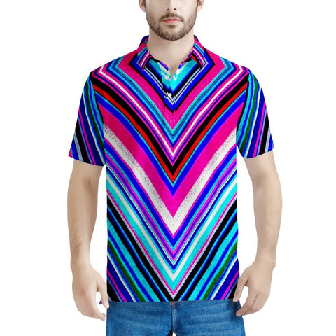 Illusions - Men's All Over Print Polo Shirt
