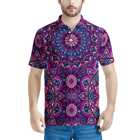 Garden Goddess - Men's All Over Print Polo Shirt