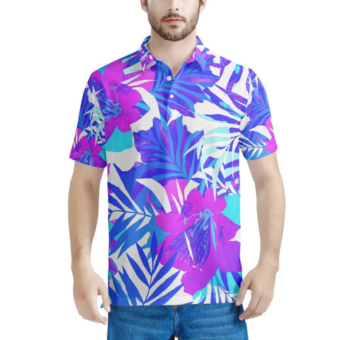 Summer Vibes - Men's All Over Print Polo Shirt