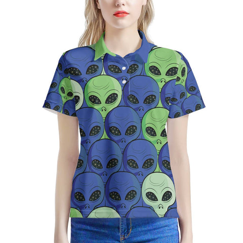 Spaced Out - Women's All Over Print Polo Shirt